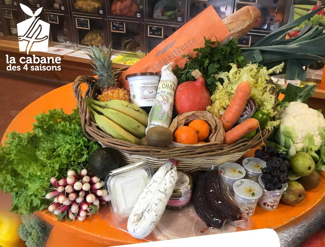 Présentation des produits disponibles à la Cabane des 4 saisons