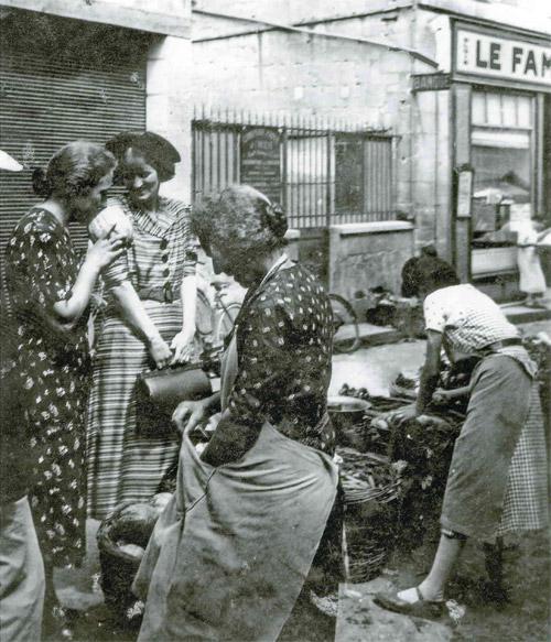 Le marché de Loches en 1945